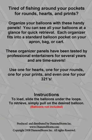 balloons at a glance organizer